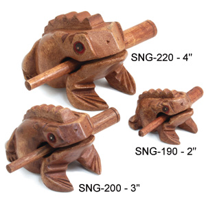 Wooden Percussion Frogs