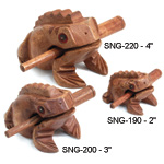 Wooden Percussion Frogs - Wooden Percussion Frog 3 inch