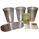 Tap My Trees Metal Bucket Starter Kit (3 Buckets)