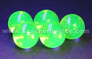 Fluorescent Marbles (package of 5)