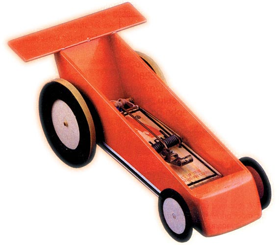 Energy mousetrap racing car kits